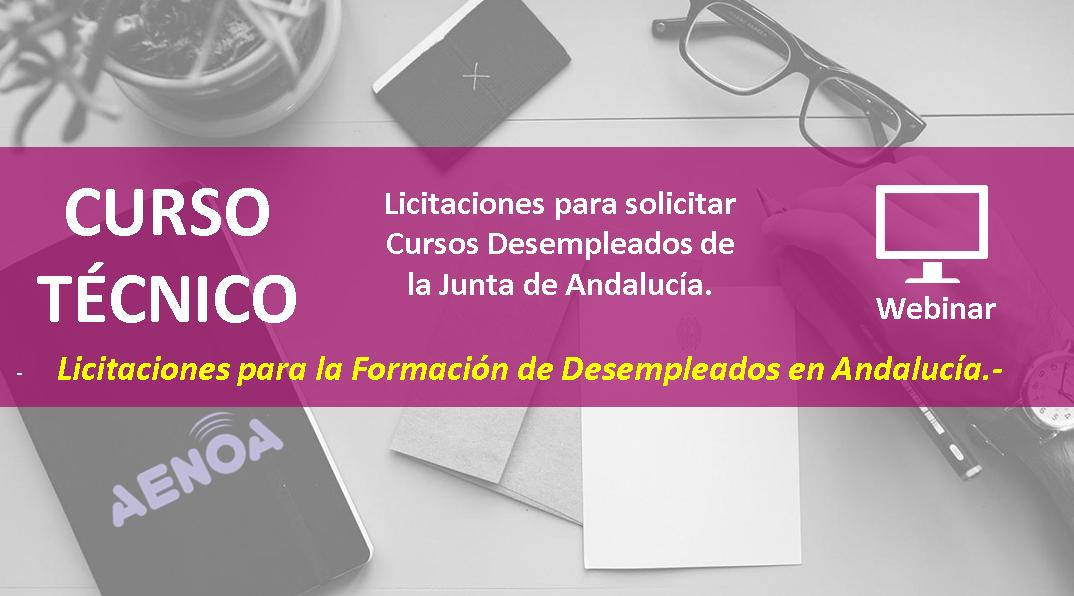 Licitaciones Para Solicitar Cursos Desempleados De La Junta De Andalucia Webinar Aenoa Formacion Continua